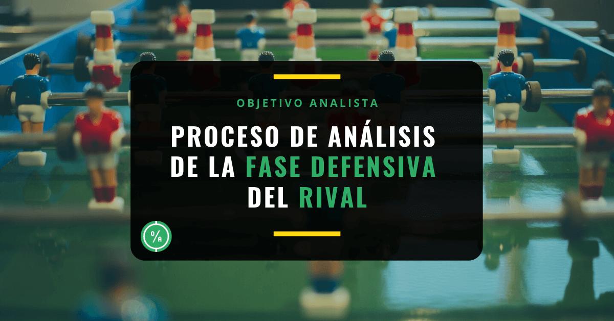 Proceso de análisis de la fase defensiva del rival