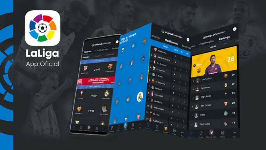 Pantallas de la app oficial de La Liga.